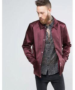 Asos | Бордовая Тренерская Куртка В Строгом Стиле