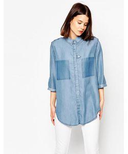 ASOS Collection | Asos Colour Block Denim Slouch Shirt