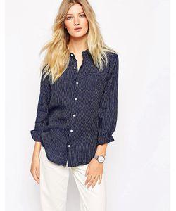 Bethnals   Повседневная Рубашка Из Полосатого Тика С Круглым Воротником Vic
