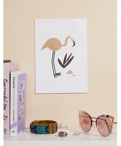 OHH DEER | Художественная Репродукция На Стену Формата A5 С Изображением Фламинго