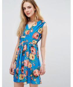 Madam Rage | Платье С Цветочным Принтом И Запахом
