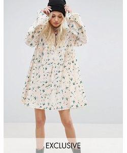 Reclaimed Vintage | Платье Мини С Цветочным Принтом