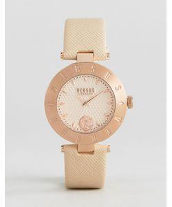 Versus   Часы С Кожаным Ремешком И Логотипом Versace S7714