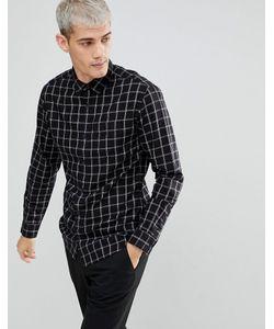 Selected Homme   Зауженная Хлопковая Рубашка В Клетку
