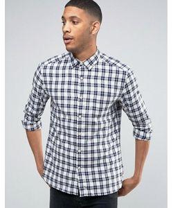 Esprit | Клетчатая Рубашка Классического Кроя С Начесом И Длинными Рукавами