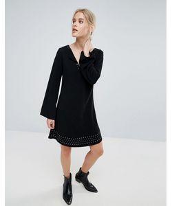 Pepe Jeans London | Платье С Длинными Расклешенными Рукавами Janet
