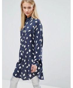 Vila | Длинная Рубашка С Принтом