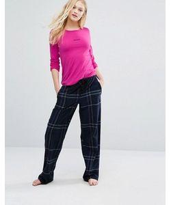 DKNY | Пижамный Комплект В Клетку С Логотипом
