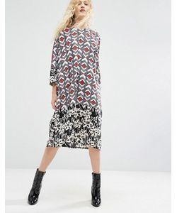 ASOS Made In Kenya   Oversize-Платье С Разноцветными Вставками