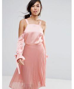 Fashion Union | Атласный Топ С Открытыми Плечами