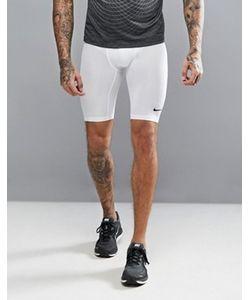 Nike Training   Белые Удлиненные Компрессионные Шорты 703086-100