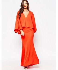 JARLO | Платье Макси С Глубоким Декольте И Широкой Оборкой Makena