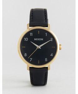 Nixon | Часы С Черным Кожаным Ремешком Arrow A1091-513