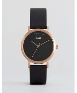 Cluse | Часы С Черным Кожаным Ремешком La Roche