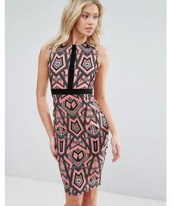 Vesper | Платье Миди С Графическим Принтом
