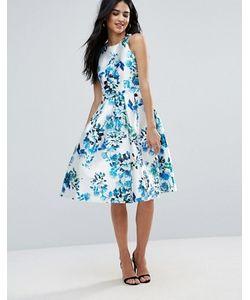 FOREVER UNIQUE | Короткое Приталенное Платье С Цветочным Принтом