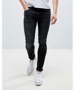 Nudie Jeans Co | Черные Джинсы Скинни Lin Jean