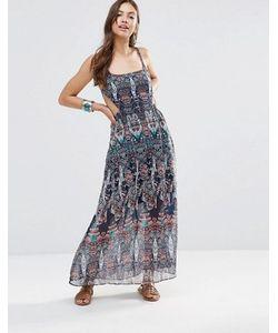 Diya | Платье Макси С Вырезами И Принтом