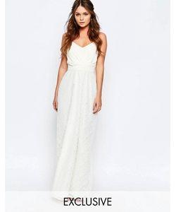 Elise Ryan | Платье Макси С Кружевной Отделкой Юбки