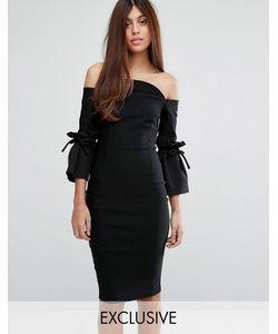 Vesper | Платье-Футляр С Рукавами Клеш