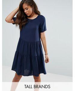 Vero Moda Tall | Ярусное Свободное Платье С Оборкой