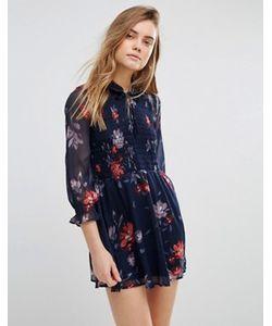 Abercrombie and Fitch | Свободное Платье С Завязкой У Горловины И Присборенной Эластичной Вставкой Abercrombie