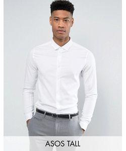 Asos | Белая Рубашка Скинни Tall
