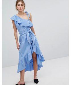 Style Mafia | Платье С Оборками И Открытыми Плечами