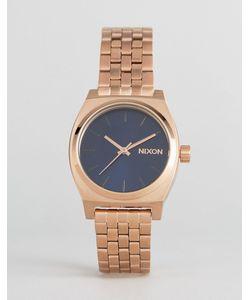 Nixon | Часы Оттенка Розового Золота Time Teller