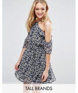 Influence Tall | Платье С Оборками И Мелким Цветочным Принтом