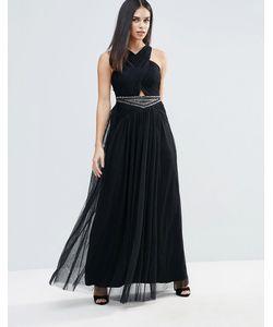 Little Mistress | Embellished Waist Maxi Dress