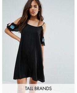 Vero Moda Tall | Платье С Открытыми Плечами И Вышивкой