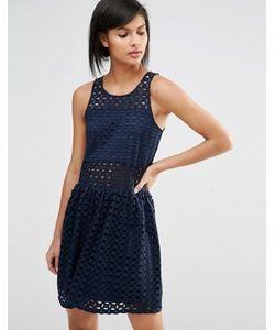 Vero Moda   Платье С Заниженной Талией И Вышивкой