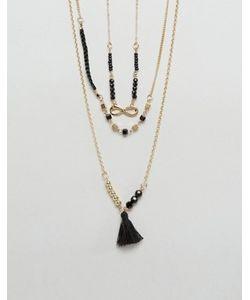 Ashiana | Ожерелье В Несколько Рядов С Кисточкой