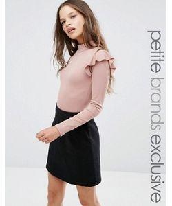 Fashion Union Petite   Боди С Рюшами На Плечах