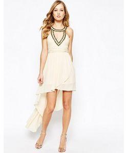 TFNC | Шифоновое Платье С Асимметричным Подолом И Отделкой