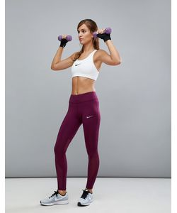 Nike   Бордовые Леггинсы Running Power Epic Lix