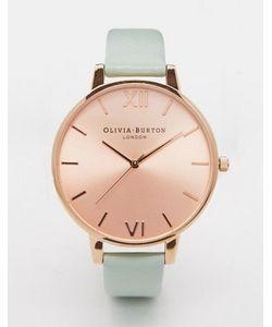 Olivia Burton | Большие Часы С Циферблатом Цвета Розового Золота И Бледно-Зеленым Ремешком Olivia