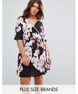 Pink Clove | Платье С Цветочным Принтом И Запахом