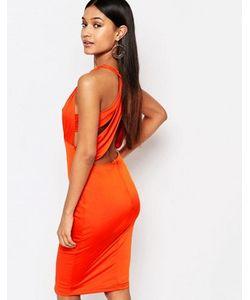 NaaNaa | Платье Миди С Вырезами И Отделкой На Спине