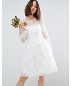 Asos | Кружевное Платье Мини С Длинными Рукавами Bridal