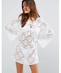 Floozie | Кружевное Пляжное Платье С Длинными Рукавами