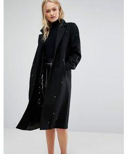 New Lily | Пальто С Отделкой Звездочками Newlily