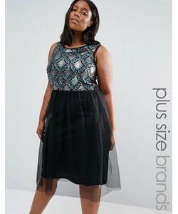 Praslin | Платье С Отделкой На Топе И Тюлевой Юбкой Plus