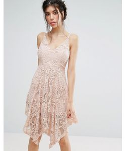 Love Triangle | Lace Dress With Hanky Hem