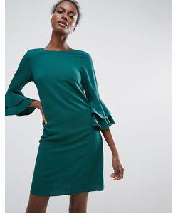 Traffic People | Цельнокройное Платье С Оборками На Рукавах