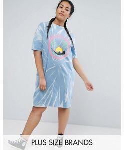 Daisy Street Plus | Платье-Футболка С Принтом Тай-Дай