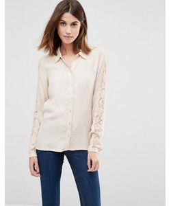 Vila | Рубашка С Кружевными Рукавами