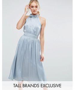 Little Mistress Tall | Приталенное Платье Миди Для Выпускного