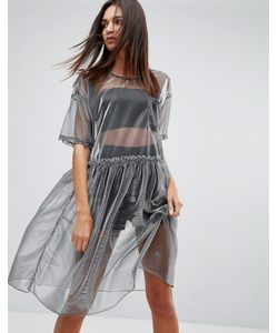 Uncivilised   Сетчатое Платье Миди